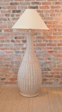 Vintage Wicker Floor Lamp | Chairish