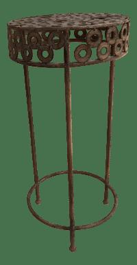 Modern Metal Patio Plant Stand | Chairish