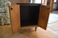 Mid-Century Modern Two-Door Wood Cabinet   Chairish