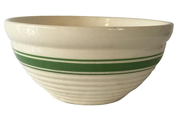 Green Striped Mixing Bowl