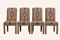 Southwestern Style Parsons Chairs - Set of 4 | Chairish