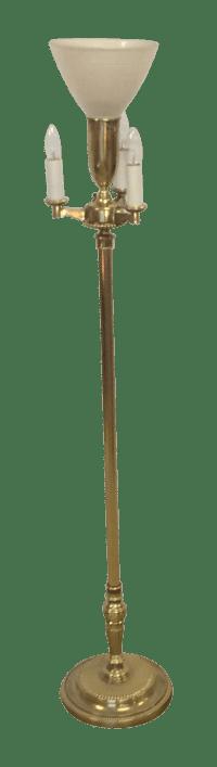 Vintage Stiffel Brass Torchiere Floor Lamp