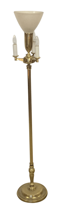 Vintage Stiffel Brass Torchiere Floor Lamp | Chairish