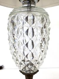 Antique Glass & Brass Pineapple Style Table Lamp   Chairish