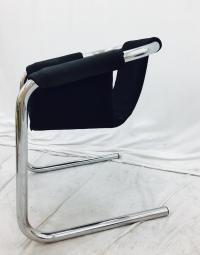 Vintage Italian Mid Century Modern Chrome Tubular Sling ...
