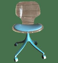 Vintage Lucite & Teal Desk Chair | Chairish