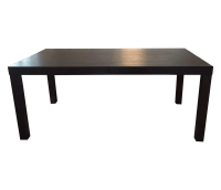West Elm Extendable Parsons Dining Table | Chairish