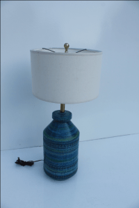 Bitossi Ceramic Pottery Lamp | Chairish