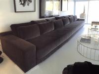 Black Velvet Modern Sofa | Chairish