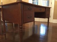 Turned Leg Computer Desk | Chairish
