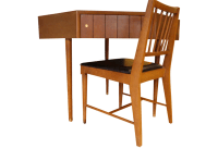 Mid-Century Modern Kroehler Corner Desk and Chair | Chairish