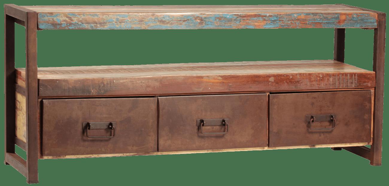 Reclaimed Wood & Iron Plasma TV Stand