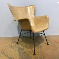 Selig Fiberglass Wingback Chair | Chairish