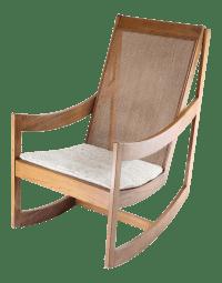Scandinavian Wood Rocking Chair | Chairish
