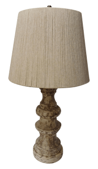 Large Vintage Nautical Lamp With Rope Shade | Chairish