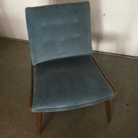 Mid-Century Modern Velvet Slipper Chair | Chairish