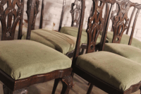 Antique Chinese Chippendale Dining Chairs, 6 | Chairish