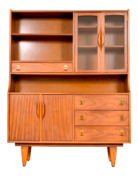 Mid Century Stanley China Cabinet Hutch | Chairish