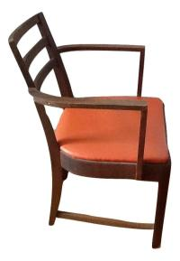 Mid-Century Orange Dining Chair   Chairish