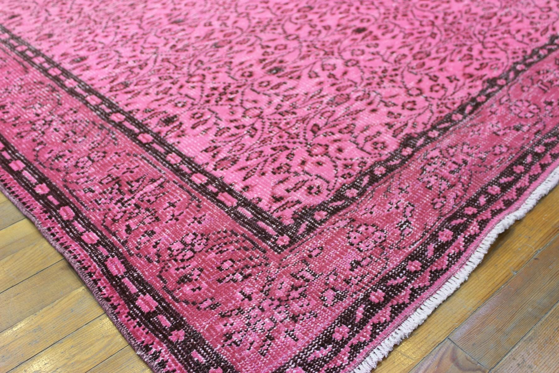 Overdyed Pink Rug