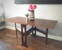 Mid-Century Modern Drop-Leaf Dining Table | Chairish