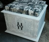 Shabby Chic Rustic Storage Ottoman