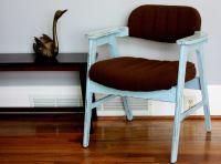 Mid-Century Modern Blue Chair   Chairish