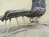 Restored Mid Century Wrought Iron Lounge Chair | Chairish