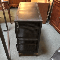 Restoration Hardware Industrial Metal Cabinet
