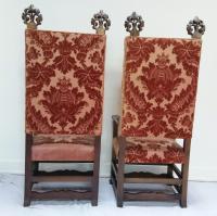 Vintage Ornate Finial Throne Chairs - a Pair | Chairish