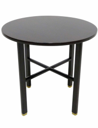 Mid-Century Round Side Table by Edward Wormley | Chairish