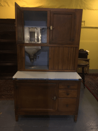 Antique Kitchen Hoosier Cabinet Cupboard | Chairish