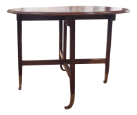 Mid-Century Expandable Drop Leaf Gateleg Table | Chairish