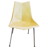 Paul McCobb Origami Fiberglass Chair | Chairish