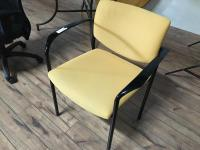 Mid-Century Modern Style Creamy Yellow Upholstered ...