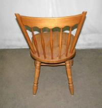 Simple Wooden Spindle Back Chair | Chairish