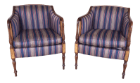 Southwood Mahogany Accent Chairs - a Pair   Chairish