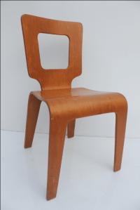 Thaden Jordan Mid-Century Bentwood Birch Chair   Chairish