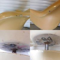 Mid-Century Saarinen Style Fiberglass Swivel Tulip Chairs ...