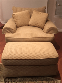 """""""Double-Wide"""" Sofa Style Arm Chair and Ottoman 