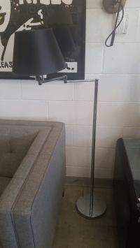 Hinson Double Swing Arm Floor Lamp   Chairish