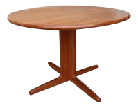 Danish Mid-Century Modern Teak Pedestal Dining Table ...
