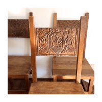 40s Gothic Dragon Dining Chairs - Set of 4 | Chairish