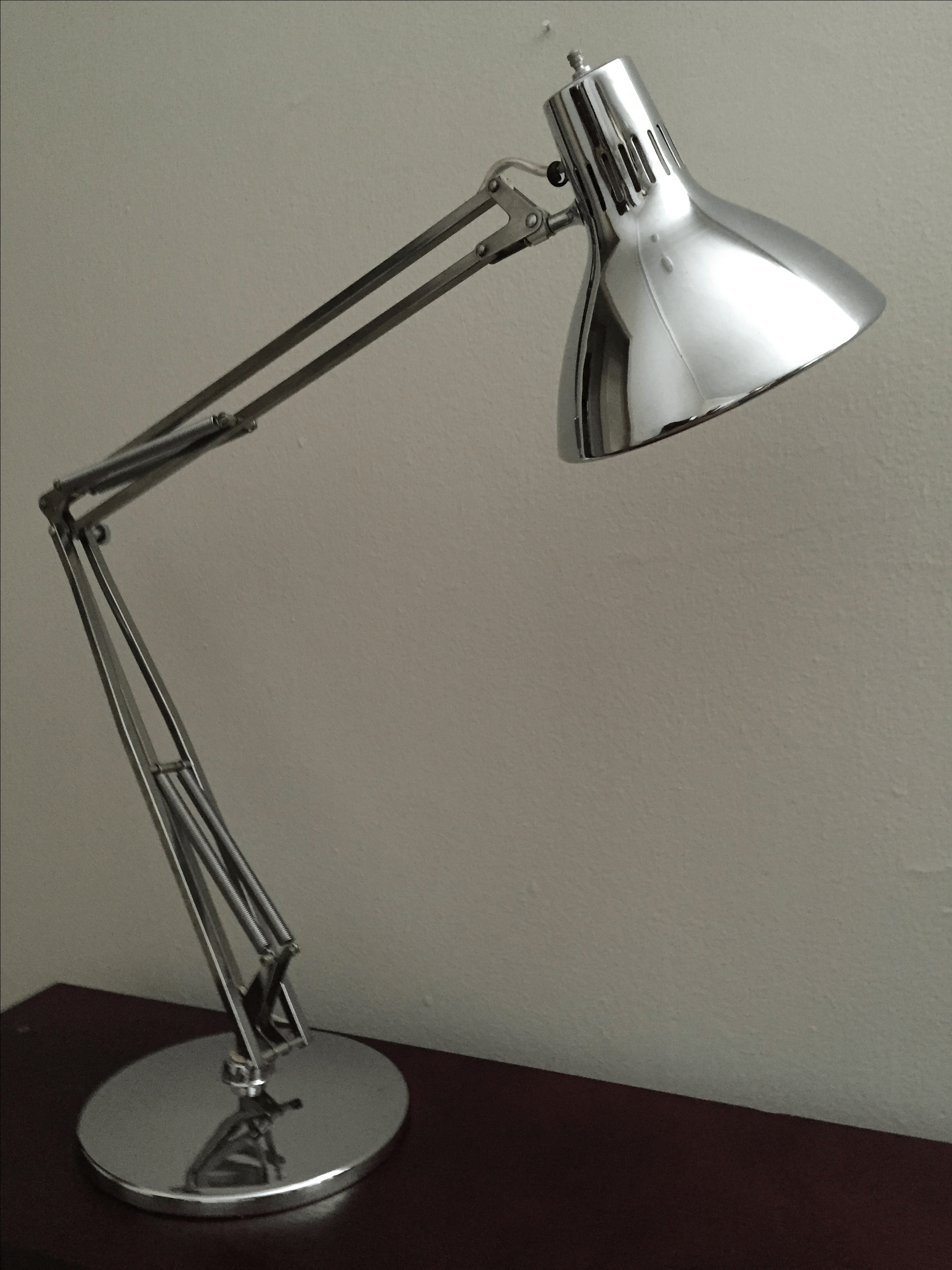 Vintage Luxo Articulated Chrome Desk Lamp  Chairish