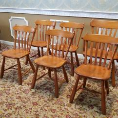 Maple Dining Room Chairs Meco Folding Chair Parts 1950s Vintage Winchendon Furniture Solid Rock Old Meeting House Country ...