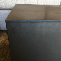 GUS Hot Rolled Steel Cube Side Tables - A Pair | Chairish