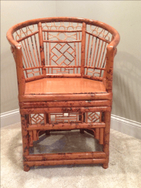 Chinese Chippendale Style Bamboo Chair | Chairish