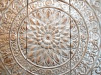Vintage Punched Tin Ceiling Tile Wall Art | Chairish