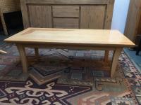 Maple & Red Oak Inlay Coffee Table | Chairish
