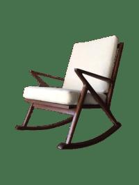 Mid Century Style Custom Z Rocking Chair | Chairish